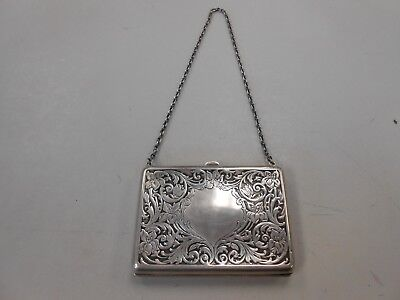 Antique victorian era sterling silver filigree calling card case! 80+ grams!