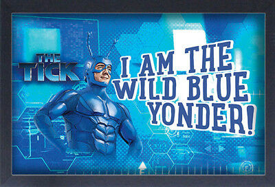 THE TICK WILD BLUE 13x19 FRAMED GELCOAT COMIC TELEVISION FUNNY GIFT NEW WEB COOL