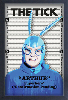 THE TICK ARTHUR PENDING 13x19 FRAMED GELCOAT COMIC TELEVISION FUNNY GIFT NEW WEB