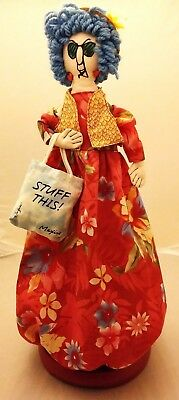 "Hallmark Maxine Stuff This! Cover Vintage 21"" Doll Hanging Plastic Bag Holder"