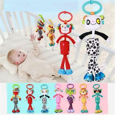 Newborn Baby Soft Toys Dolls Toddler Hand Bell Rattles Plush Gift Boys Girls LH