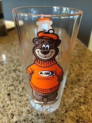 A & W A&W Root Beer Glass Vintage 1970's The Great Root Beer Bear