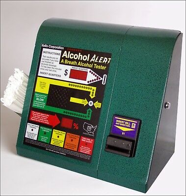VINTAGE Kero Alcohol Alert Breathalyzer accepts Dollar Bills & Coins