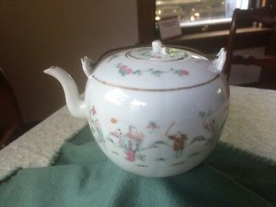 Chinese Porcelain Qing Famille Rose Teapot