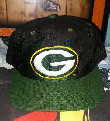 Vintage 90 s Green Bay Packers Sharktooth Logo Athletic Snapback Hat Cap NFL efad3f9b1