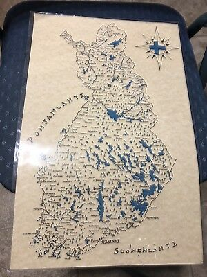 *FINLAND* Hand-drawn Map! Amazing Piece Of Art! Must See