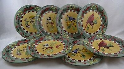 Lenox Winter Greetings Everyday Birds Oven to Table Set 8 Dinner Plates