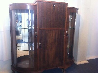 Vintage Mirrored Drinks Cocktail Cabinet/Bar Art Deco/1940s