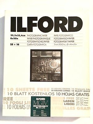 ILFORD MGIV RC DeLuxe - B&W negative paper resin coated pearl variable (35 8x10)