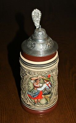 Original Thewalt German Beer Stein With Lid.