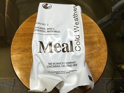 MEAL COLD WEATHER MRE #2 ORIENTAL SPICY CHICKENw/Rice 2019 Dating**FREE SHIPPING