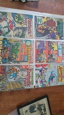 DC Marvel Silver Age comic lot Batman Fantastic Four Superman Dr. Doom Supergirl