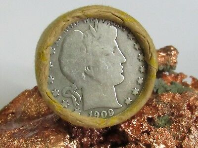 1909/1944 1-Unsearched-Shotgun-Roll-BARBER,WALKING LIBERTY HALVE 20 COINS #WR393