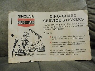 Vintage Sinclair Dino-Guard Service Stickers Book