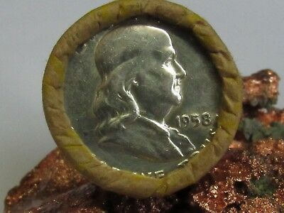 1948/1958 END 1 ROLL Unsearched (20) Silver FRANKLIN Half Dollars $10.00  #WR396