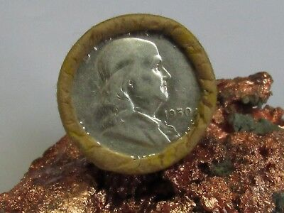 1950/? END 1 ROLL Unsearched (20) Silver FRANKLIN Half Dollars $10.00  #WR397