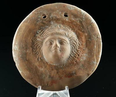 Hellenistic Greek Terracotta Gorgoneion Votive Shield Lot 22B