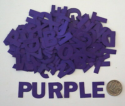 NO 258 Scrapbooking - 130 Purple Alphabet Letters - Not Stickers - Scrapbook