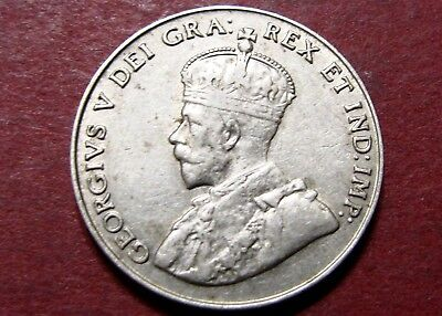 1930 Canada King George V Five Cents Piece Rare Canadian Nickel Collectable Coin