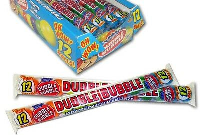 6 x USA DUBBLE BUBBLE ASSORTED FRUIT BUBBLE GUM BALLS 12pk
