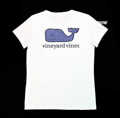 "NWT Vineyard Vines Women SS Graphic Pocket Crew TEE ""FLAG & STAR WHALE FILL"""