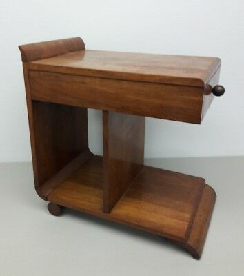Art Deco Gilbert Rhode Style Small Side Table With Fine Woods And Aged Patina