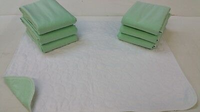 6 NEW BED PADS REUSABLE UNDERPADS 34x36 HOSPITAL GRADE INCONTINENCE WASHABLE-USA