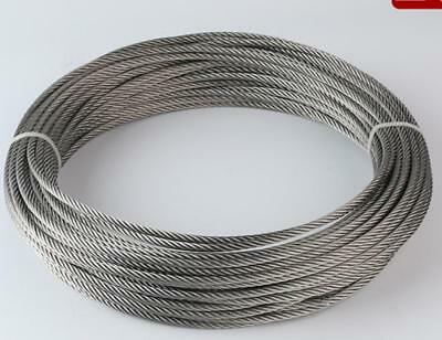0.3-1mm 1.5mm 2mm 2.5mm 3mm 4mm 5mm 6mm 8mm STAINLESS Steel Wire Rope Cable Lot