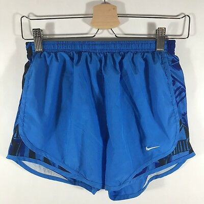 Nike Dri Fit Tempo Running Shorts Lined Body Attack Blue Womens Small S EUC