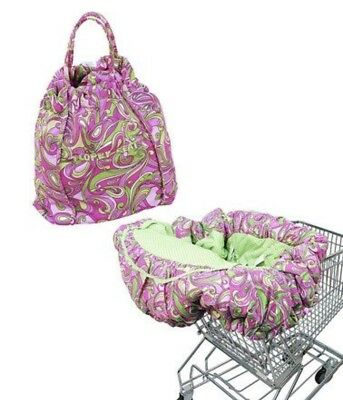 Floppy Seat Shopping Cart Highchair Cover Pink Paisley EZ Carry Bag Style