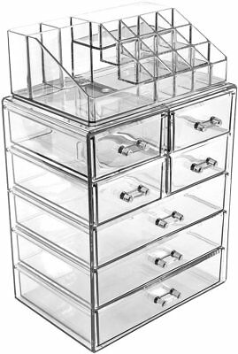 Sorbus Acrylic Cosmetic Makeup and Jewelry Storage Case Display - Spacious