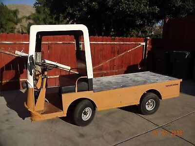 Taylor Dunn B2-48 Industrial Flatbed Electric Utility Cart. NEW batts. UPDATE