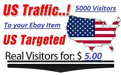 5000 USA Visitors to your Ebay Auction for only $5