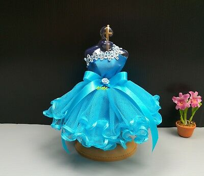 Ballet Dance Tutu Outfit Handmade Costume for Barbie, Doll Dresses Clothing Blue