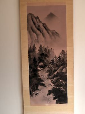Antique Japanese hanging scroll calligraphy vintage in great condition