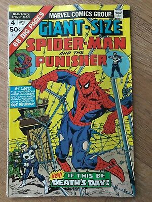 Giant-Size Spider-Man # 4 The Punisher - Death's Day Comic Book 02921 Spiderman