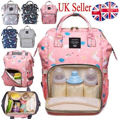 Unicorn Mummy Backpack Large Multifunctional Changing Baby Nappy Bag Waterproof