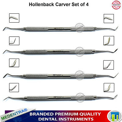 Hollenback Carvers Dental Amalgam Filling Removal Carving and Contouring Tool X4