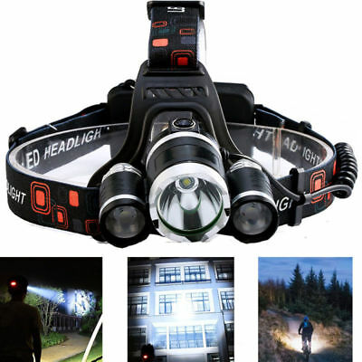 Led Headlamp Headlight Waterproof Head Camping Fish Torch Flashlight Lamp Light