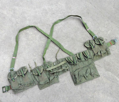 Surplus Original Chinese Type 63 Chest Rig Combat Webbing Pouches