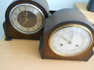 two vintage clocks one enfield and one bentime 8 day made in england