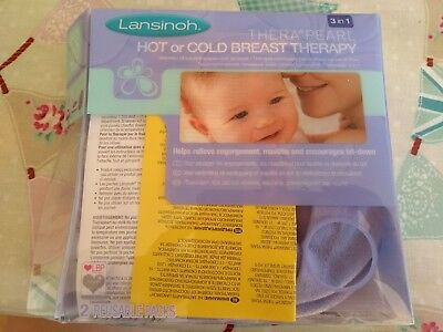 Lansinoh Thera°pearl 3in1 hot/cold breast therapy relieves mastitis, engorgement