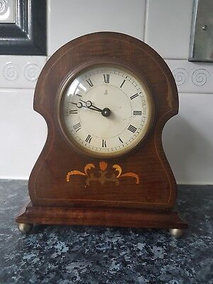 Antique mantle Mahogany carriage clock excellent condition.