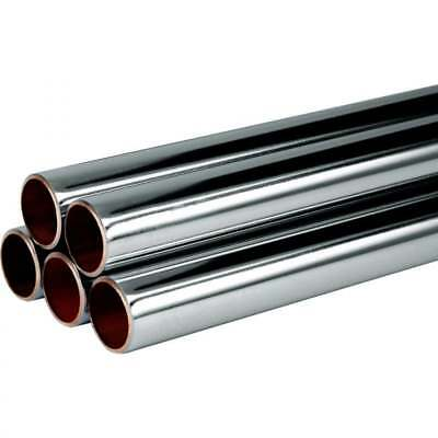 15mm Chrome plated copper pipe/tube different sizes available