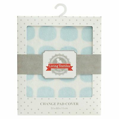 Living Textiles Blue Dot Spot Change Pad Cover Mat Baby Changing Table Boy NEW