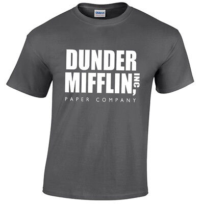 Dunder Mifflin Mens T Shirt Funny The Office Gift