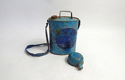 Lourdes Souvenir French Flask Water Carrier 1958 with Cup