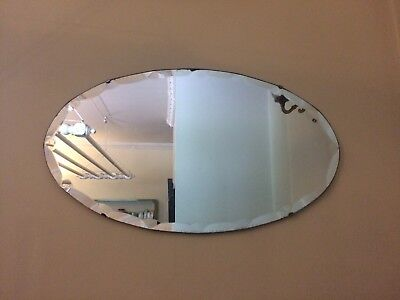Antique Oval Bevelled Edge Mirror