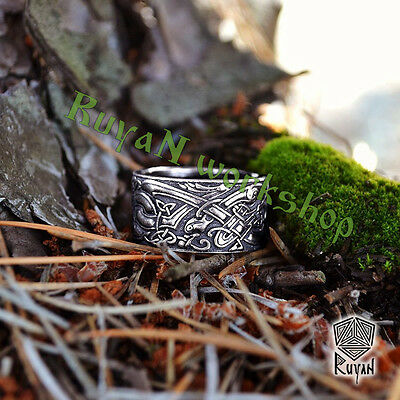 Celtic Dogs Ring Celtic Ring Wolves Ring Wolf Ring Viking Ring Viking Wedding