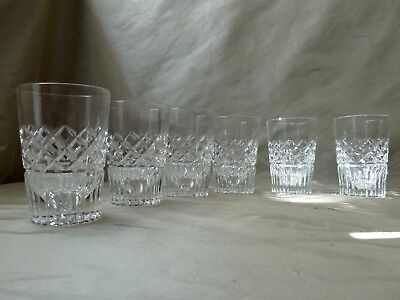 6 Vintage Whisky Tumblers, Domed Base, h10,8cm""